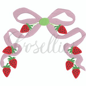 Strawberry bow embroidery design, Strawberry frame, Fruit, Strawberry, Strawberries, Floral frame, Bow embroidery design, Vintage bow, Sketch bow, Name frame, Font frame, Name outline, Girly bow, Girl, Applique bow, Vintage bow, Monogram, Vintage stitch embroidery design, Applique, Machine embroidery design, Blanket stitch, Beanstitch, Vintage, Classic
