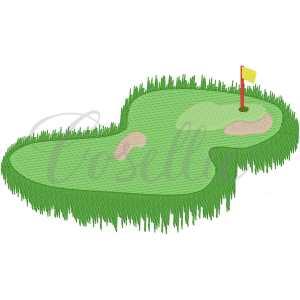 Golf hole embroidery design, Golf green, Golf embroidery design, Golf, Golf clubs, Golf course, Golf ball, Golf green, Vintage stitch embroidery design, Applique, Machine embroidery design, Blanket stitch, Beanstitch, Vintage