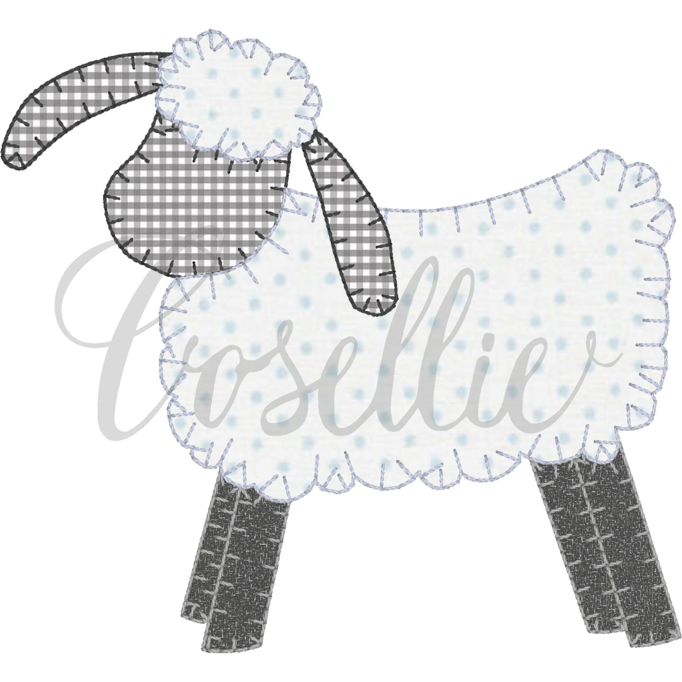 c66a8bc6b75b Lamb applique embroidery design