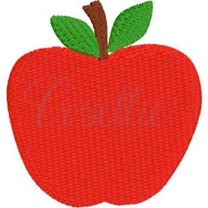 Mini apple embroidery design, Apple, Books, Crayons, Vintage crayons, Back to school, Vintage stitch embroidery design, Applique, Machine embroidery design, Blanket stitch, Beanstitch, Vintage, Classic
