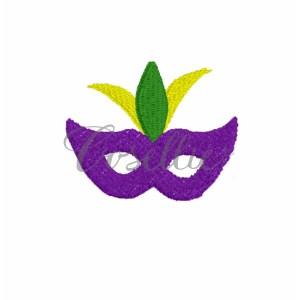 Mini Mardi Gras mask embroidery design, Mardi Gras mask, Mask, Jester hat, Mardi Gras parade, Vintage stitch embroidery design, Applique, Machine embroidery design, Blanket stitch, Beanstitch, Vintage