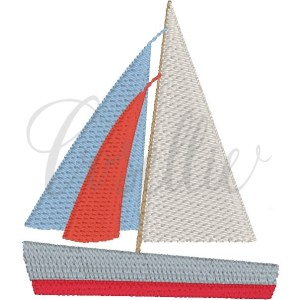 Mini Sailboat embroidery design, Mini sailboat, Simple sailboat, Sailboat outline, Vintage sailboat, Classic sailboat, Summer, Spring, Ocean, Beach, Mini design, Vintage stitch embroidery design, Applique, Machine embroidery design, Blanket stitch, Beanstitch, Vintage