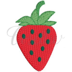 Mini strawberry embroidery design, Strawberry, Fruit, Mini fruit, Mini design, Strawberries, Monogram, Vintage stitch embroidery design, Applique, Machine embroidery design, Blanket stitch, Beanstitch, Vintage, Classic