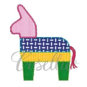 Pinata embroidery design, Pinata applique embroidery design, Cinco de Mayo, Maracas, Sombrero, Mexico, Party, Vintage stitch embroidery design, Applique, Machine embroidery design, Blanket stitch, Beanstitch, Vintage