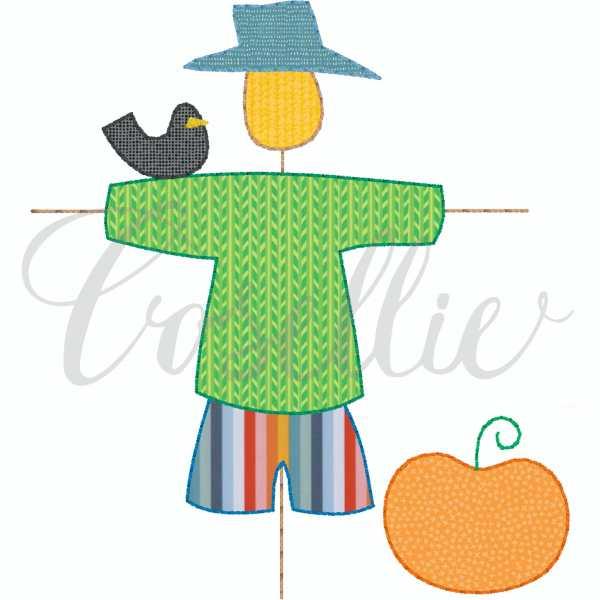 Scarecrow boy applique embroidery design, Simple applique, Boy scarecrow, Fall, Pumpkin, Crow, Thanksgiving embroidery design, Vintage stitch embroidery design, Applique, Machine embroidery design, Blanket stitch, Beanstitch, Vintage, Classic, Sketch
