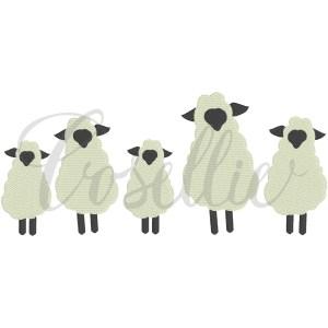 Sheep embroidery design, Vintage lamb, vintage sheep, Sheep, Easter, Easter lamb, Easter sheep, Outline, Vintage stitch embroidery design, Applique, Machine embroidery design, Blanket stitch, Beanstitch, Vintage, Classic
