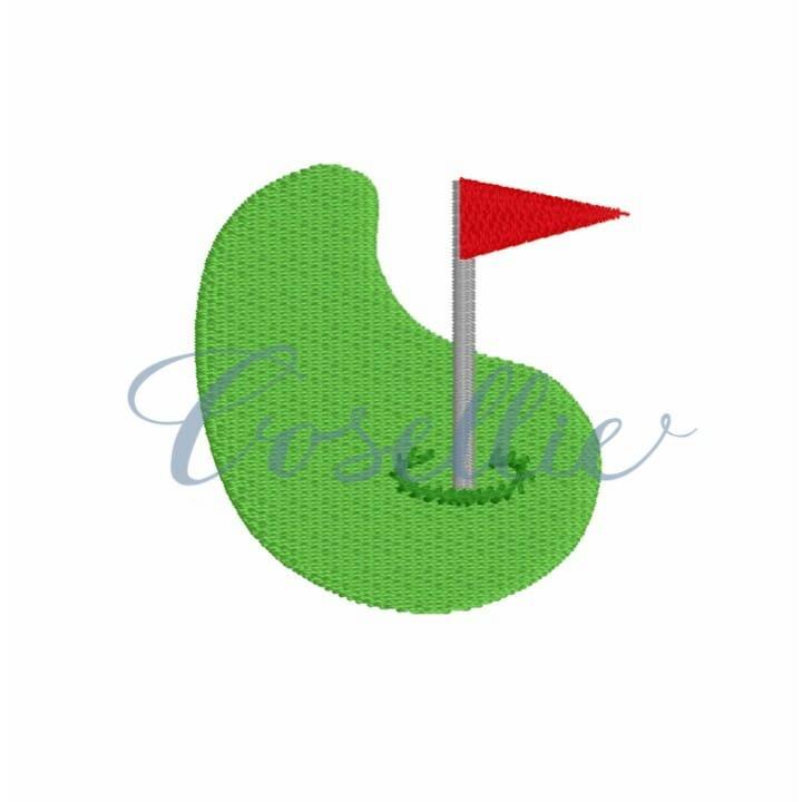 Mini Golf Green Embroidery Design Embroidery Design Cosellie