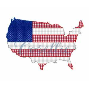 USA Flag embroidery design, Vintage America, United States of America, United States, USA, July 4th, Summer, Fourth of July, Memorial Day, Vintage stitch embroidery design, Applique, Machine embroidery design, Blanket stitch, Beanstitch, Vintage