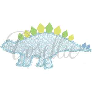 Stegosaurus applique embroidery design, Vintage dinosaurs, Boys, T-Rex, Stegosaurus, Brachiosaurus, Triceratops, Vintage stitch embroidery design, Applique, Machine embroidery design, Blanket stitch, Beanstitch, Vintage