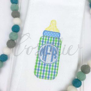 Bottle Applique embroidery design, Monogrammed bottle, Bottle design, Baby bottle, Bottle, Simple bottle, Vintage stitch embroidery design, Applique, Machine embroidery design, Blanket stitch, Beanstitch, Vintage, Classic