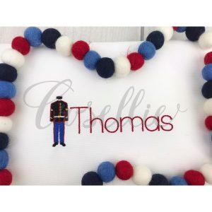 Mini Marine uniform embroidery design, Marine embroidery design, Mini design, US Marines, USA, US Military, Vintage stitch embroidery design, Applique, Machine embroidery design, Blanket stitch, Beanstitch, Vintage