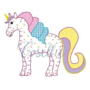 Unicorn applique embroidery design, Unicorn embroidery design, Horse, Girl, Vintage stitch embroidery design, Applique, Machine embroidery design, Blanket stitch, Beanstitch, Vintage