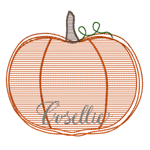 Pumpkin embroidery design, Quick stitch pumpkin, Halloween, Vintage Thanksgiving, Vintage stitch embroidery design, Applique, Machine embroidery design, Blanket stitch, Beanstitch, Vintage