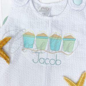 Sandbuckets embroidery design, Sand pails, Sand bucket, Beach pail, Beach, Summer, Vintage stitch embroidery design, Applique, Machine embroidery design, Blanket stitch, Beanstitch, Vintage, Classic