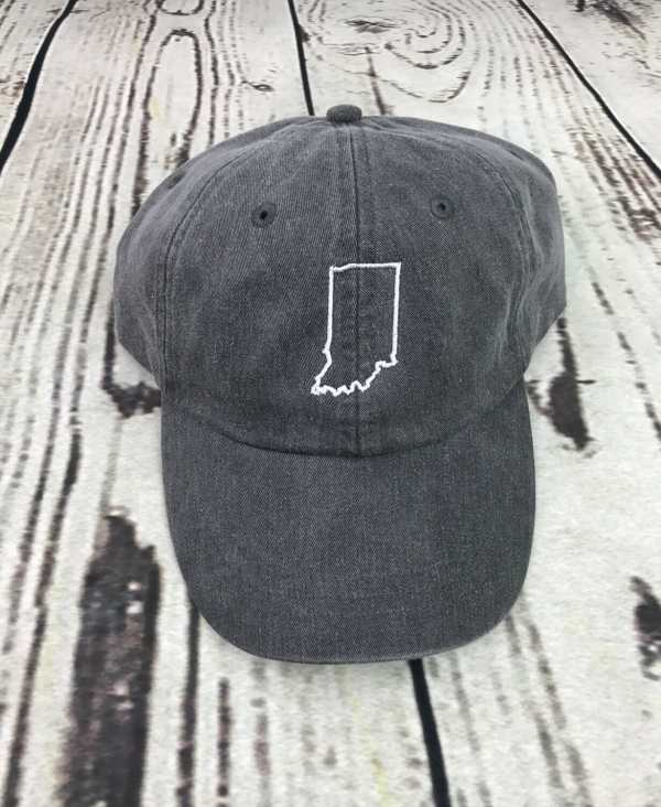 Indiana baseball cap, Indiana baseball hat, Indiana hat, Indiana cap, State of Indiana, Personalized cap, Custom baseball cap
