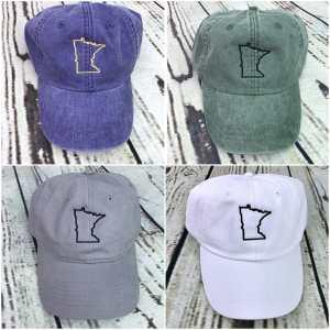 Minnesota baseball cap, Minnesota baseball hat, Minnesota hat, Minnesota cap, State of Minnesota, Personalized cap, Custom baseball cap