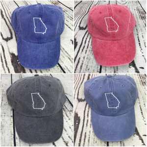 Georgia baseball cap, Georgia baseball hat, Georgia hat, Georgia cap, State of Georgia, Personalized cap, Custom baseball cap