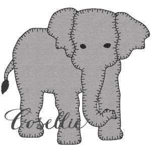 Elephant applique embroidery design, Elephant applique, Football, Elephant, Alabama, Vintage stitch embroidery design, Applique, Machine embroidery design, Blanket stitch, Beanstitch, Vintage