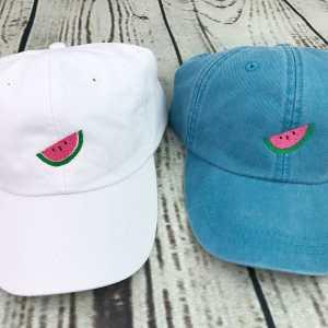 Watermelon baseball cap, Watermelon baseball hat, Watermelon hat, Watermelon cap, Personalized cap, Custom baseball cap, Beach baseball cap, Summer baseball cap, Spring break