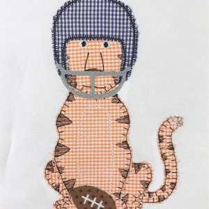Tiger football helmet embroidery design, Football, Tiger, Auburn, LSU, Clemson, Vintage stitch embroidery design, Applique, Machine embroidery design, Blanket stitch, Beanstitch, Vintage