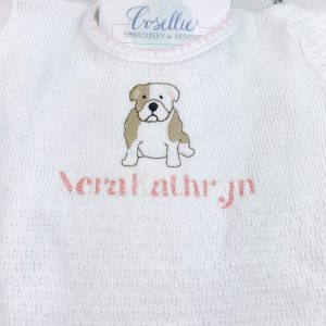 Mini bulldog embroidery design, Bulldog, Vintage bulldog, Football, Vintage stitch embroidery design, Applique, Machine embroidery design, Blanket stitch, Beanstitch, Vintage