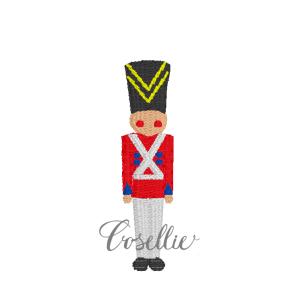 Toy soldier embroidery design, Nutcracker, Mini soldier, Vintage Christmas, Winter, Vintage stitch embroidery design, Applique, Machine embroidery design, Blanket stitch, Beanstitch, Vintage
