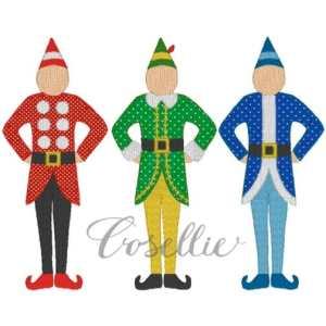 Elves embroidery design, Vintage Christmas, Christmas elves, Elf, Winter, Vintage stitch embroidery design, Applique, Machine embroidery design, Blanket stitch, Beanstitch, Vintage