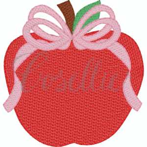 Apple bow embroidery design, Bow, Apple, Books, Crayons, Vintage crayons, Back to school, Vintage stitch embroidery design, Applique, Machine embroidery design, Blanket stitch, Beanstitch, Vintage, Classic