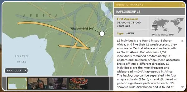 Map of African migration.