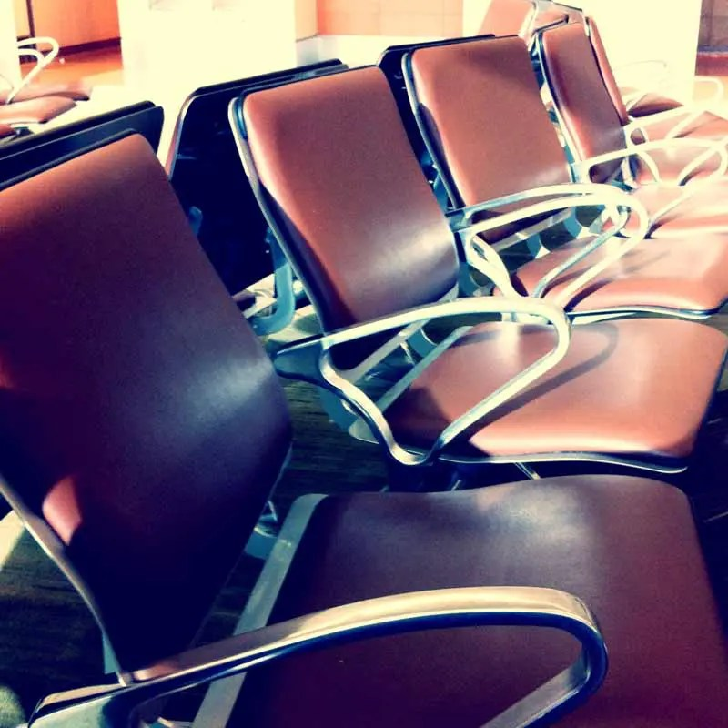 San Jose airport seats.