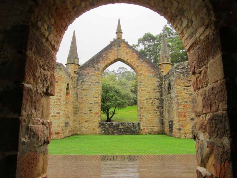 The chapel in Port Arthur.