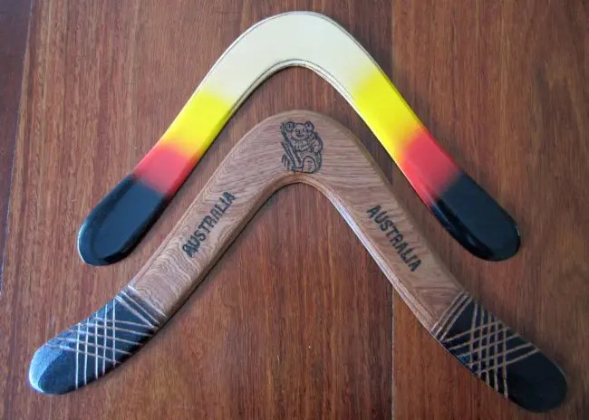Boomerangs.