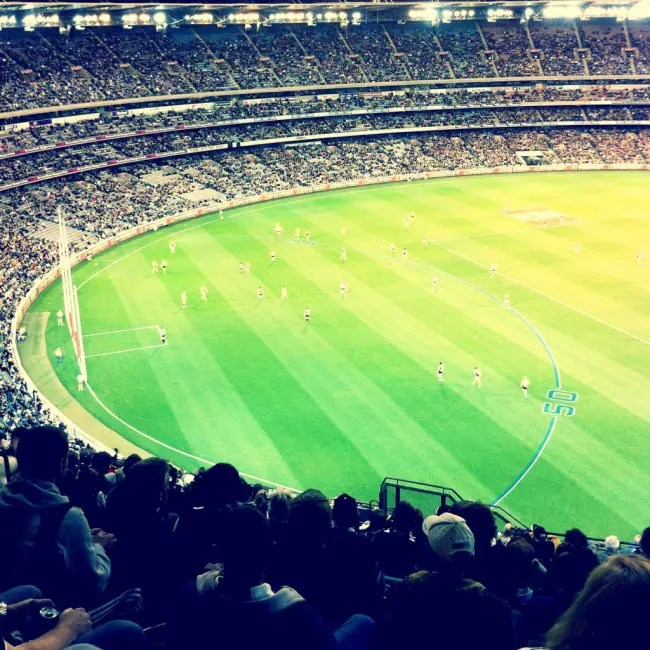 Footy game.