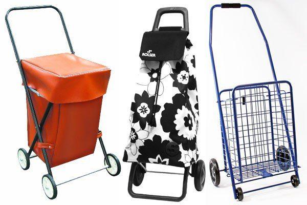 Shopping trolleys.