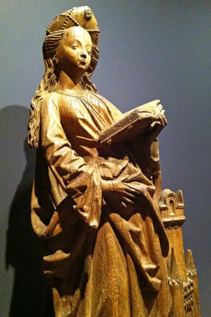 St Barbara, France, c. 1420, oak.