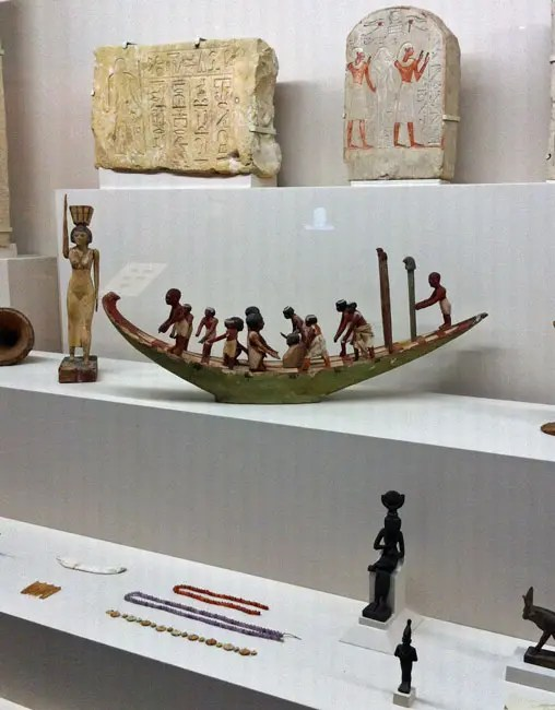 Various antiquities from the Egyptian collection.
