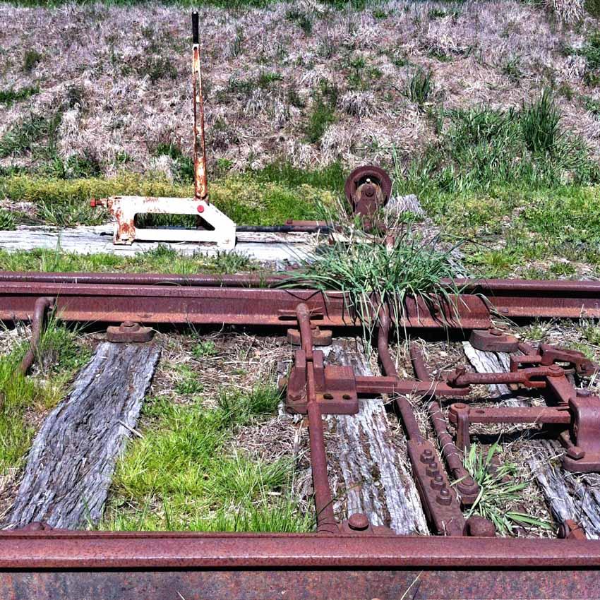 Old railroad track.