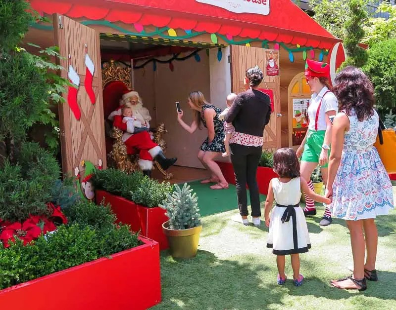 Kids and Santa Claus.