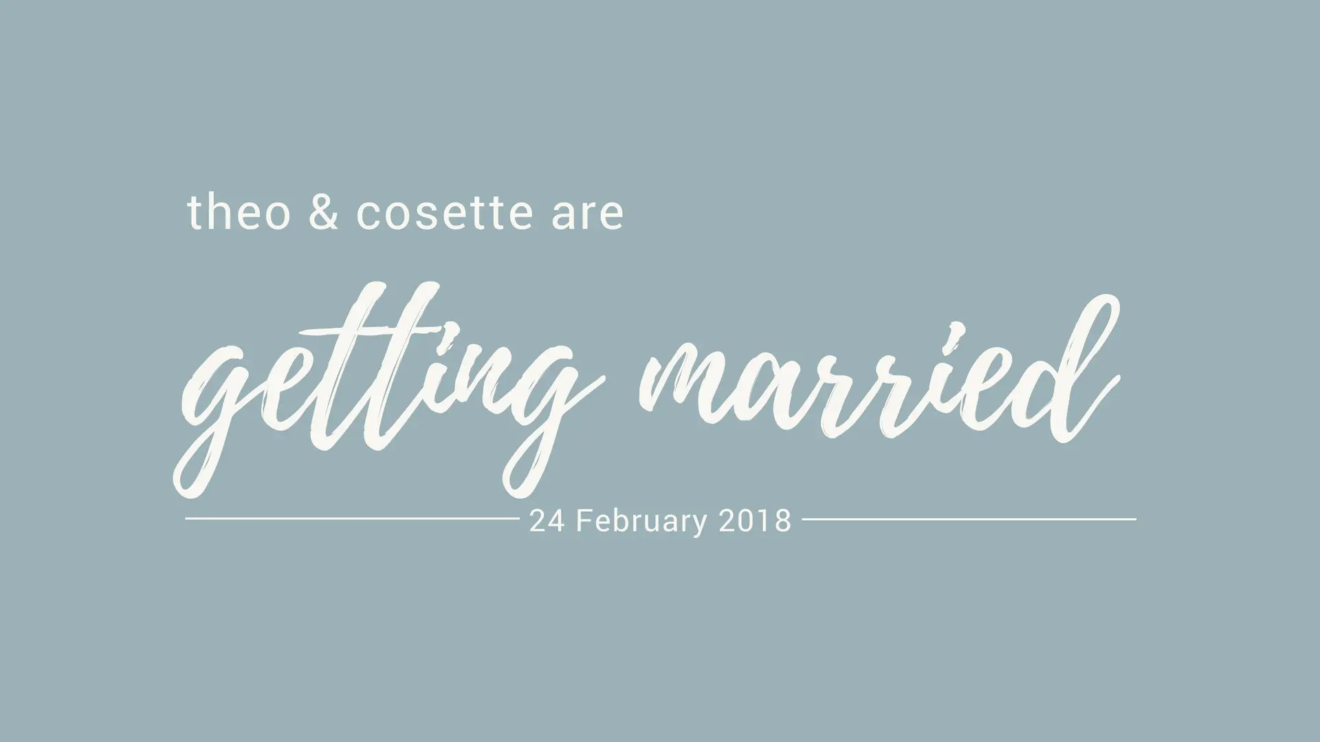 Getting married page header.