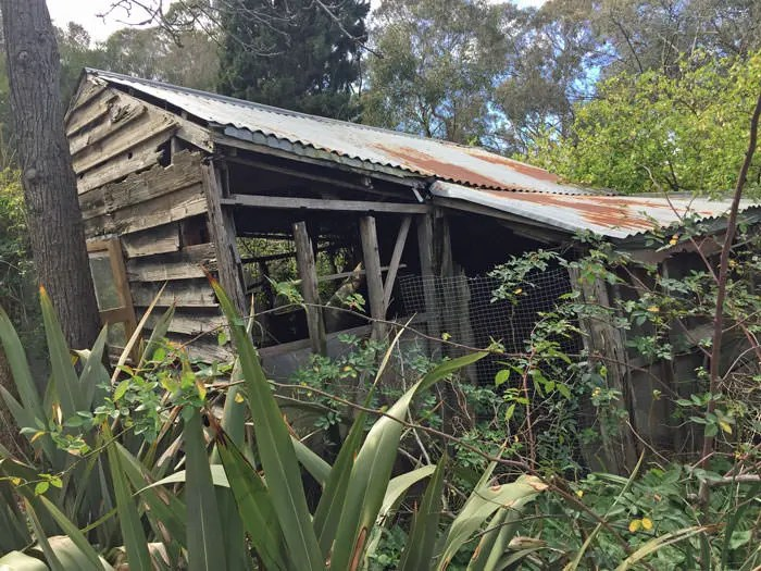 An old milk shed.