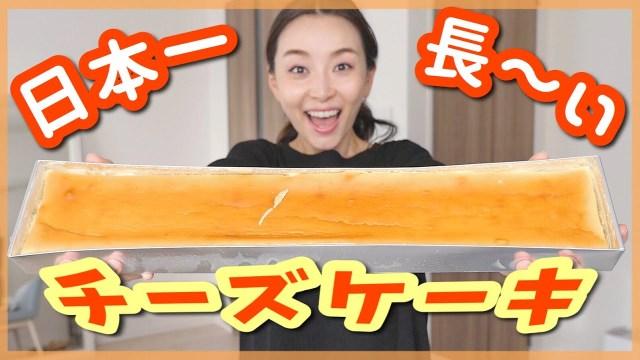 日本一長いチーズケーキが本当に長過ぎて冷蔵庫に入らない!!【お取り寄せレポ】