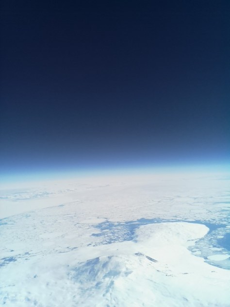 A view of Mount Erebus and Mount Terror from above.