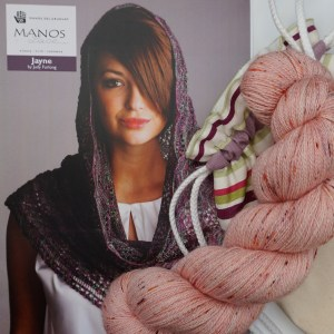 Living Coral Speckle Laceweight Lace Shawl Knitting Kit
