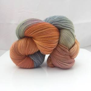 Hand-dyed lace weight shawl yarn merino superwash lace weight yarn