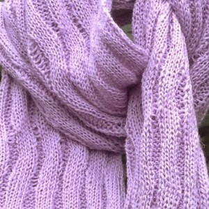 Merino Wool Scarf in lilac