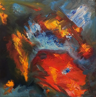 Volcano and Sea - SOLD