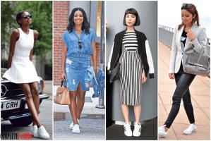 7 modalitati de a purta pantofii sport albi