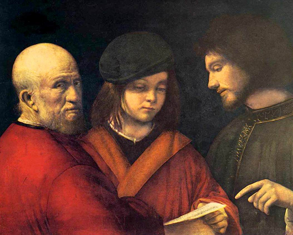 Las tres edades del hombre, Giorgione