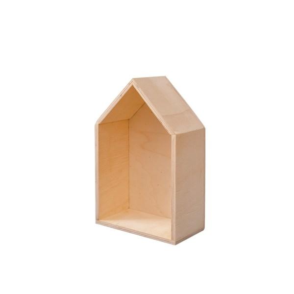 Estantería casita de madera – Cositas Chulis