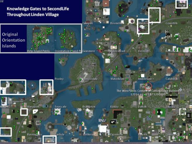 Knowledge Gates Sites Map (2006-2021)